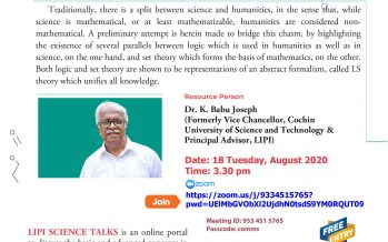 Webinar Series -1 LIPI SCIENCE TALKS